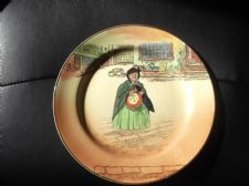 "VINTAGE 10.25"" PLATE ROYAL DOULTON DICKENS SERIES SAIREY GAMP D8175 X BLUSH"
